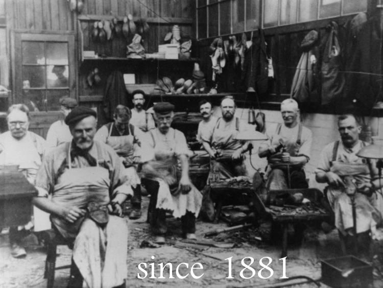 Fabryka NPS w 1881 roku. Wollaston, Northamptonshire, Anglia.