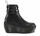 DR. MARTENS BOXY CAITIN 2 STRAP ANKLE BOOT SNAKE