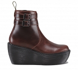 DR. MARTENS BOXY CAITIN 2 STRAP ANKLE BOOT OXBLOOD
