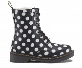 DR. MARTENS KALOSZE WELLIES DRENCH WHITE DOT ON BLACK