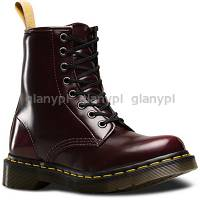 DR. MARTENS 1460 VEGAN CHERRY CAMBRIDGE BRUSH