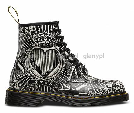 DR. MARTENS 1460 BLACK & WHITE EGRET PLAYING CARD PRINT