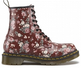 DR. MARTENS 1460 VINTAGE ROSE CHERRY RED