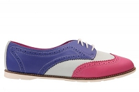 DR. MARTENS POISE POLINA RASPBERRY + OFF WHITE + BLUE