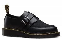 DR. MARTENS WEDGE CREEPER RAMSEY MONK BLACK SMOOTH