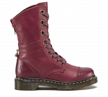 DR. MARTENS TRIUMPH AIMILIE CHERRY RED (TARTAN LINING)