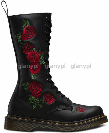 DR. MARTENS VONDA 1914 EMBROIDERED BLACK