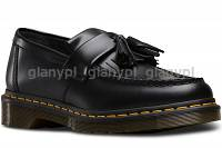 DR. MARTENS ADRIAN BLACK SMOOTH yellow stitching