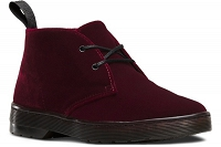DR. MARTENS CRUISE DAYTONA VELVET CHERRY RED