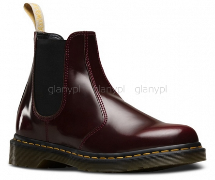 DR. MARTENS 2976 VEGAN CHERRY CAMBRIDGE BRUSH