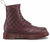 DR. MARTENS CORALIE QUILTED MONO CHERRY RED