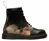 DR. MARTENS 1460 POWER, CORRUPTION & LIES BLACK + WHITE ROSE