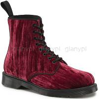 DR. MARTENS 1460 MARVEL VELVET CHERRY RED