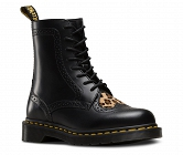 DR. MARTENS BENTLEY HEART BLACK LEOPARD