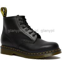 DR. MARTENS 101 BLACK POLICE BOOT yellow stitching