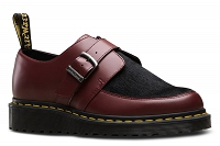 DR. MARTENS WEDGE CREEPER RAMSEY MONK CHERRY RED SMOOTH